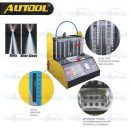 AUTOOL CT200 Petrol Car Motorcycle Injector Cleaning Tool 6 Cylinder Ultrasonic Clean Tester
