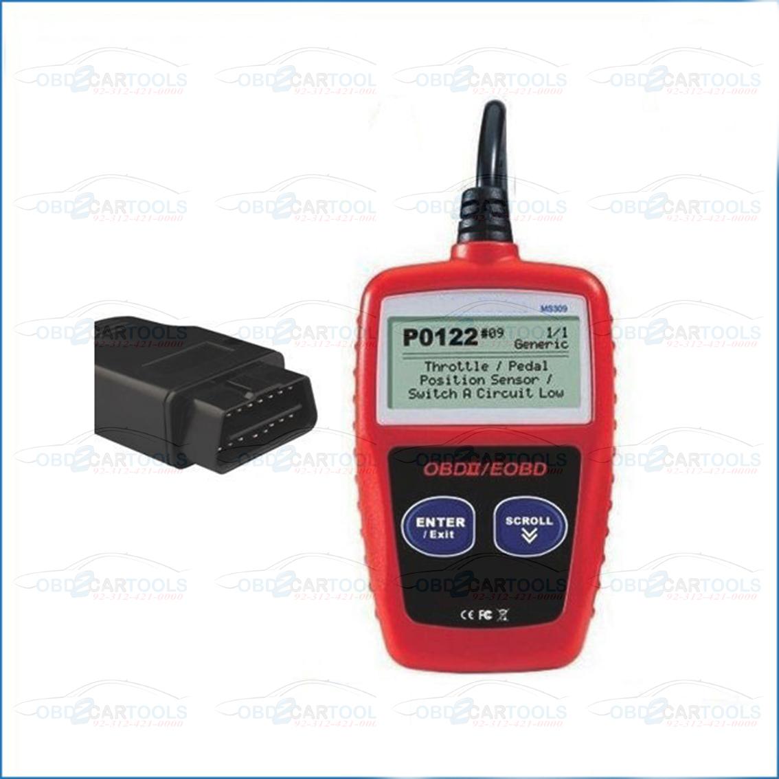 MS309 Diagnostic Tool CAN BUS OBD2 Code Reader EOBD OBD II Diagnostic Tools  Scanner